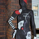 "Bespoke Decorative Mosaic Art - Mannequin ""Pantomime"" -  Decorative Mannequin Art London"