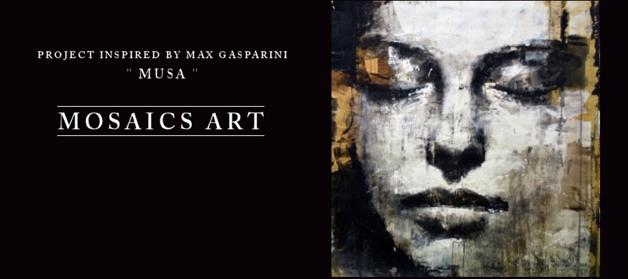 """Gasparini Musa"" classical and realistic painting of Art of Max Gasparini"