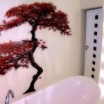 Bathroom Design Ideas - mosaic wall mural art.