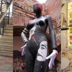 "Bespoke Decorative Mosaic Art - Mannequin ""Pantomime"" - Decorative Mannequin Art London"