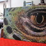 """""""Iguana Eye"""" Mosaic Wall Art Panel"""